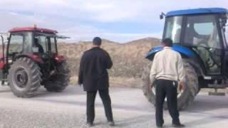 çobanlar da new holland td65d traktör ile tümosan 65 70 traktörün güç denemesi