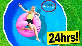 Video 24 Hours in a Swimming Pool in my Backyard! (Hidden Secret Code Found in Water) MP3, 3GP, MP4, WEBM, AVI, FLV Agustus 2018