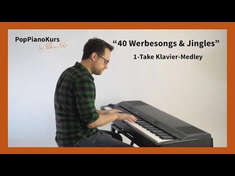 40 Werbesongs & Werbejingles: Die bekannteste Musik aus der TV Werbung am Klavier