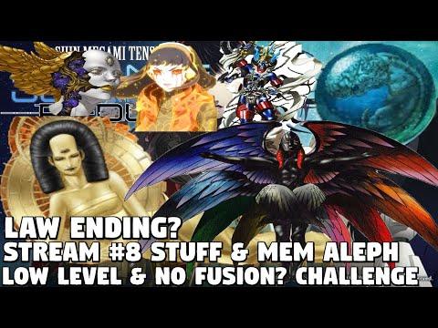 SMT Strange Journey Redux Low-Level & NO Fusion Challenge? [IMPOSSIBLE] -Stream #8 Stuff & Mem Aleph