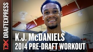 K.J. McDaniels 2014 NBA Pre-Draft Workout & Interview