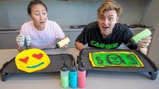 BEST PANCAKE ART WINS $10,000 (PANCAKE ART CHALLENGE)