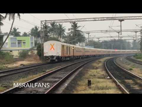 BACK TO BACK HIGH SPEED LHB TRAINS ON MS SECTION