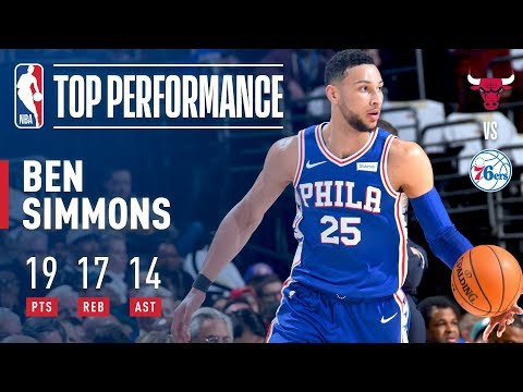 Video: Ben Simmons Scores 19 pts, 17 rebs, 14 asts vs The Bulls