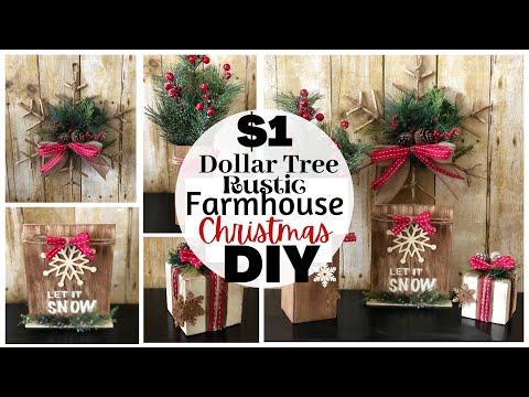 Dollar Tree Christmas DIYs   Rustic Farmhouse Christmas Decor   Chritsmas 2020   Friend Friday Hop
