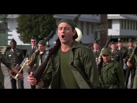 'Do Wah Diddy Diddy' Running Cadence with Bill Murray from Stripes (1981)