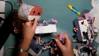 A quick inexpensive 4th of July or any occasion decoration using Eileen Hull Travel Trailer die for Sizzix - Captured Live on Ustream at http://www.ustream.tv/channel/scrappycampersisters