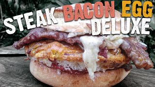 Steak Bacon and Egg Sandwich recipe by the BBQ Pit Boys by BBQ Pit Boys