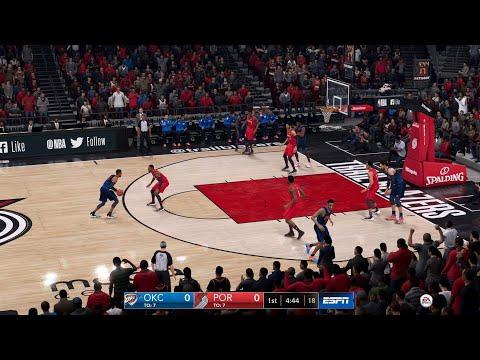NBA LIVE 19 Playoffs Oklahoma City Thunder vs Portland Trail Blazers Game 1 - PS4 PRO - HD