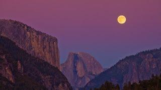 Yosemite Half Dome Moon Rise (HD timelapse)
