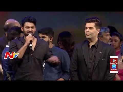 Prabhas Thanks to Karan Johar @ Baahubali2 Pre Release Function    NTV (видео)