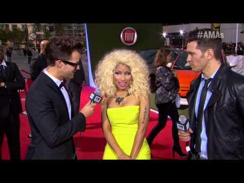 AMA 2012, Nicki Minaj, Red Carpet Interview