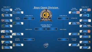 CIF Southern Section Boys Open Division Bracket with First Round Results and Quarter Final Pairings.  Sierra Canyon survives a scare.  Damien triumphs in an Inland Empire contest.  Santa Margarita emerges to take on Bishop Montgomery.  Mater Dei has an easy time with Crossroads and will battle Jemarl Baker and Roosevelt.  Long Beach Poly handles Alemany surprisingly well. Chino Hills hits the century mark once again in a win over JSerra.Music courtesy PromoSapien: http://audiojungle.net/user/promosapien Pond5 music profile page: https://www.pond5.com/collections/409444