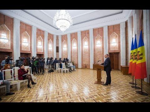 Președintele Republicii Moldova a susținut o conferință de presă în legătură cu căderea Guvernului Maiei Sandu