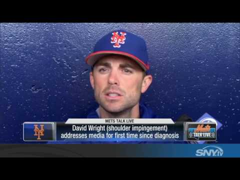 Video: David Wright discusses shoulder injury and immediate Mets future