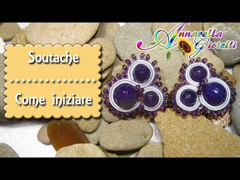 Perle e perline incastonate con il soutache – Modulo base