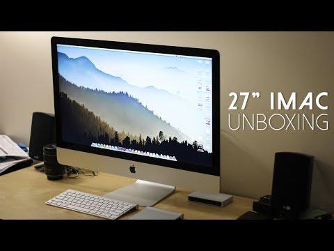 Imac - Unboxing of my new 27
