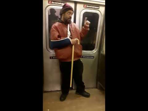 Huikea talentti New Yorkin metrossa