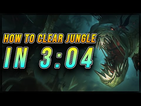HOW TO CLEAR JUNGLE IN 3 MINUTES AND 4 SECONDS [3:12 on Red Side] | Fiddlesticks - League of Legends