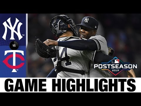 Yanks complete sweep to advance to ALCS | Yankees-Twins Game Highlights 10/7/19