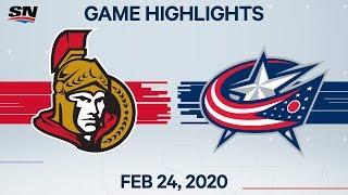 NHL Highlights   Senators vs. Blue Jackets – Feb. 24, 2020 by Sportsnet Canada