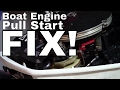 Johnson Outboard Pull Start Recoil Repair----HOW TO FIX
