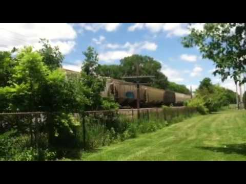 CSX Grain Train in Worthington, Ohio 6/8/16