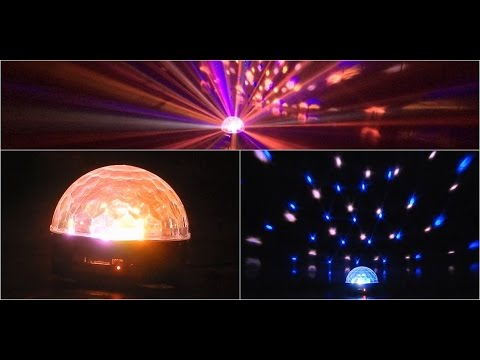 LED Discokugel RGB Kristall Magic Ball