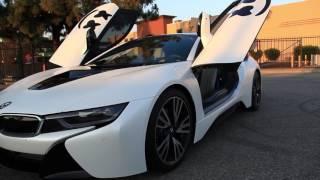 DJ Marshmello's BMW i8 Full Wrap in Satin Pearl White w/ Gloss Black Accents Video