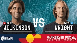 Matt Wilkinson and Owen Wright meet in the Final at the Quiksilver Pro Gold Coast 2017 in Australia. Subscribe to the WSL for more action: https://goo.gl/VllRuj ...