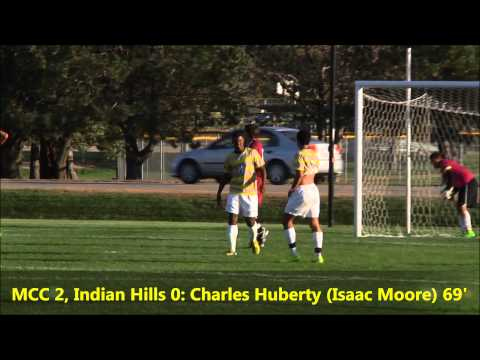 Highlights: Men's soccer vs. Indian Hills (10/7/2014) W, 3-1