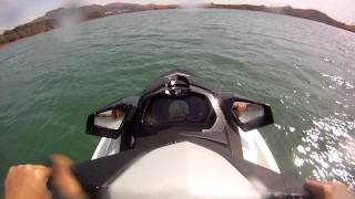 7. Sea doo GTI 130 2011 Demonstration, Sport mode, Stunts, Brake system.