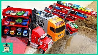 Video Car Toy Learning Videos for Kids. Disney Tomica Cars3 Truck Hauler Carry Case Display | MariAndToys MP3, 3GP, MP4, WEBM, AVI, FLV Desember 2018
