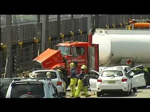 Horror crash causes traffic chaos on Sydney Harbour Bridge