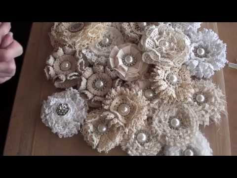 Shabbychic loop flower tutorial.