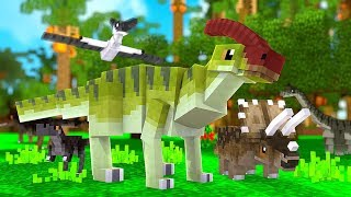 Our First Baby Water Dino (Fishy Boi) - Minecraft Jurassicraft Dinos Modpack Episode #4 | JeromeASF
