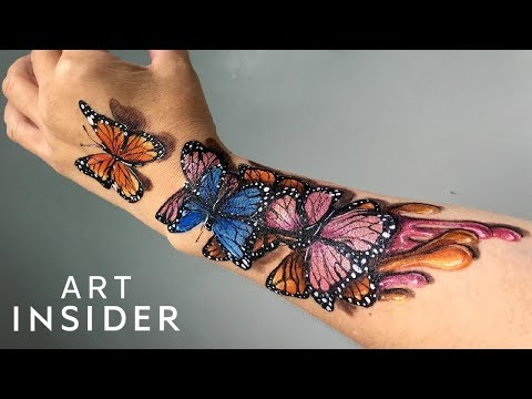 Body Artist's Animal Drawings Come To Life