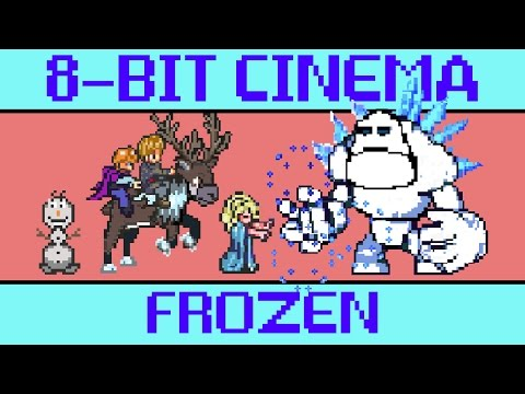 Frozen 8Bit Animated Video Game Version