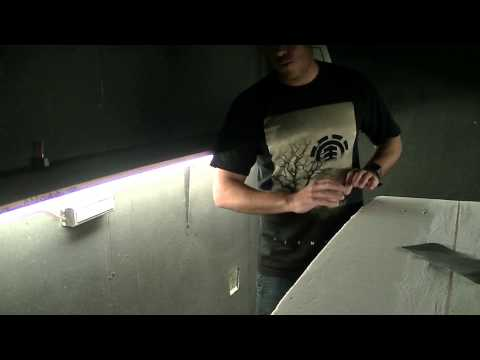 Surfboard Shaping Rooms - Lighting and Paint - Keahana