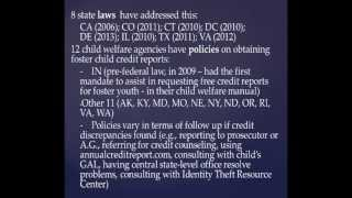 Presentation Topics: MD Child SSN Lock Law - Steve Sakamoto-Wengel, Maryland Attorney General's Office Federal and State Foster Child Laws - Howard ...