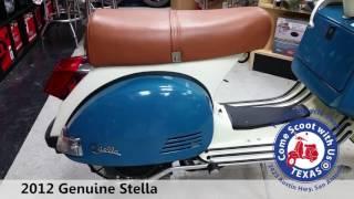 7. 2012 Genuine Stella 4 speed blue white moped