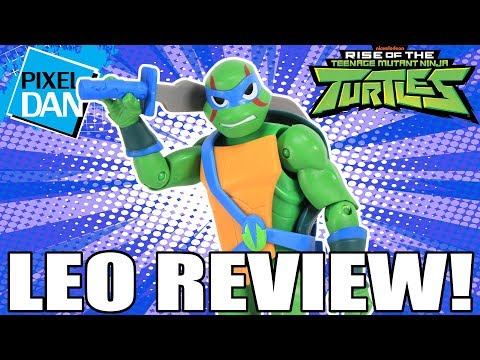 Leonardo Rise Of The TMNT Ninja Turtles Action Figure Video Review