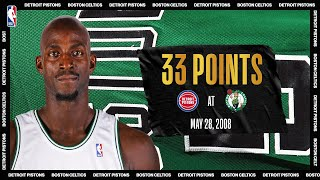 2008 ECF Game 5: Garnett goes off for 33 PTS | Pistons @ Celtics | #NBATogetherLive #20HoopClass by NBA
