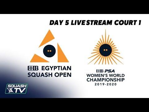 CIB Egyptian Open 2019 - Court 1 - Day 5 Livestream