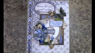 "Free step by step tutorial on how to make this 7"" x 9"" with 3-1/2"" spine mini album using the Heartfelt Creations paper collection - for beginners or seasone..."