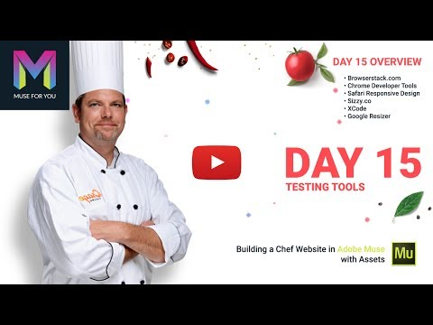 Day 15 - Testing Tools | Building a Chef Website in Adobe Muse | Adobe Muse CC | Muse For You