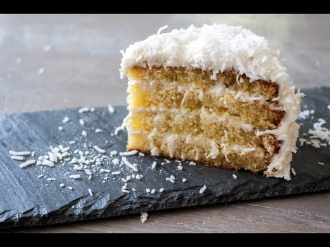 How to make white chocolate coconut cake- 4 Mins or Less Recipes