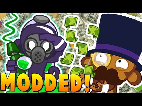 MAXED EVERY TOWER BLOONS MOD CHALLENGE - BLOONS TOWER DEFENSE 5 (видео)