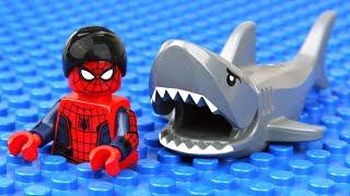 Video Lego Spider-Man Shark Attack MP3, 3GP, MP4, WEBM, AVI, FLV Mei 2018