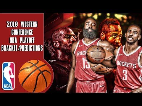 2018 Western conference NBA playoff bracket/predictions (видео)